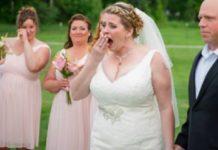 Bruid zet stoel neer voor overleden zoon - kan tranen niet bedwingen wanneer ze ziet wie er opdaagt