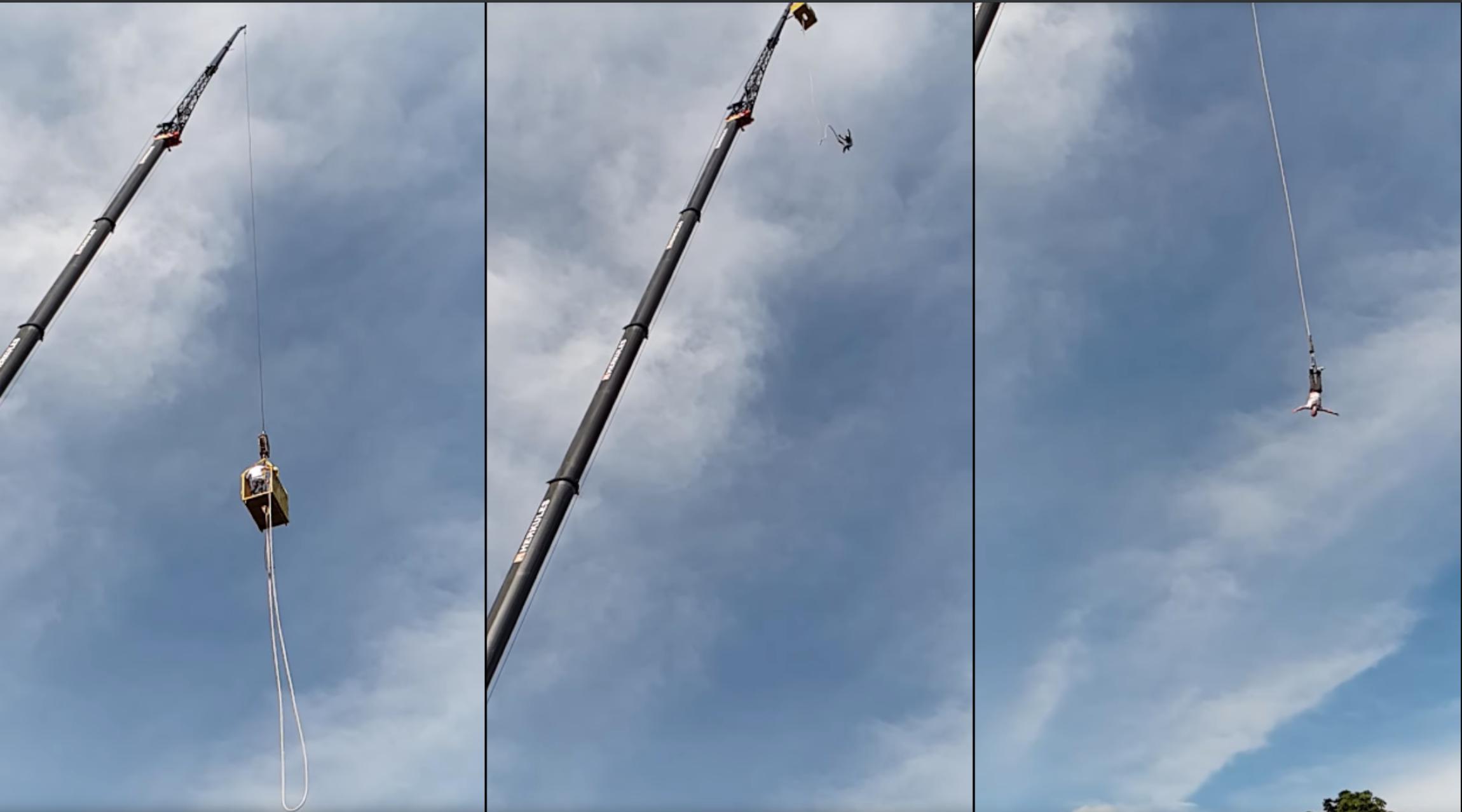 Bungeejumpkoord laat los bij sprong vanaf 92 meter hoogte
