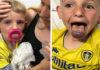 Moeder waarschuwt anderen nadat zoon's tong opzwelt en blauw wordt tijdens bezoek aan oma