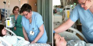 verpleegster aan bed