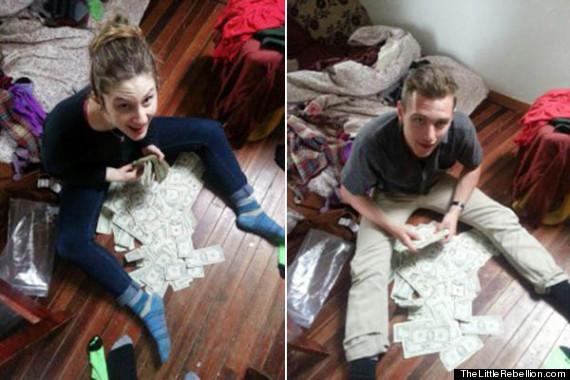 studenten met cash geld