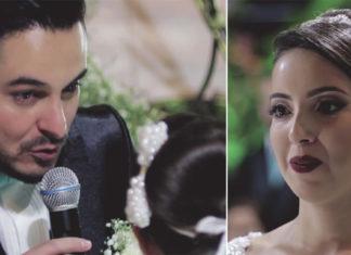Bruidegom bekent verliefd te zijn op iemand anders - wijst naar gast en laat bruid huilen