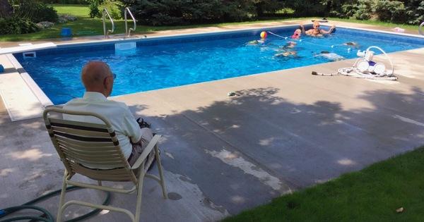 zwembad van weduwenaar