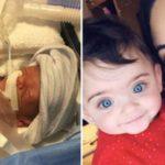 Baby 16 weken te vroeg geboren en slechts 0.7 kg viert nu haar eerste verjaardag