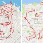 Hardloper uit San Francisco maakt kunstwerken met zijn routes