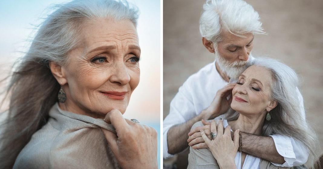 Russische fotograaf maakt foto's van mooi ouder echtpaar, bewijst dat liefde de tijd overwint