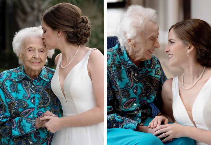 bruid en oma