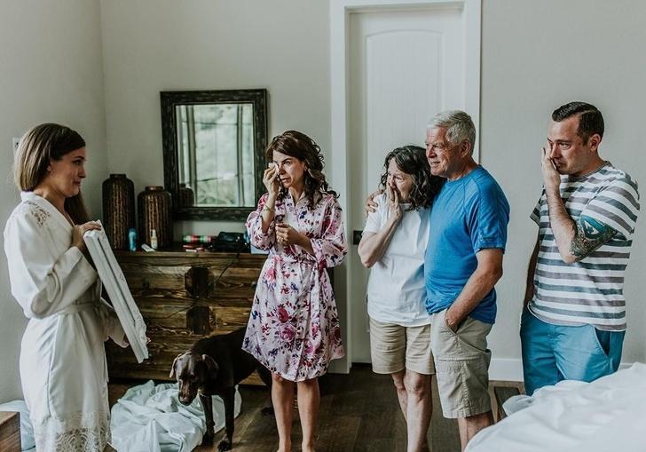 familie bij de bruid