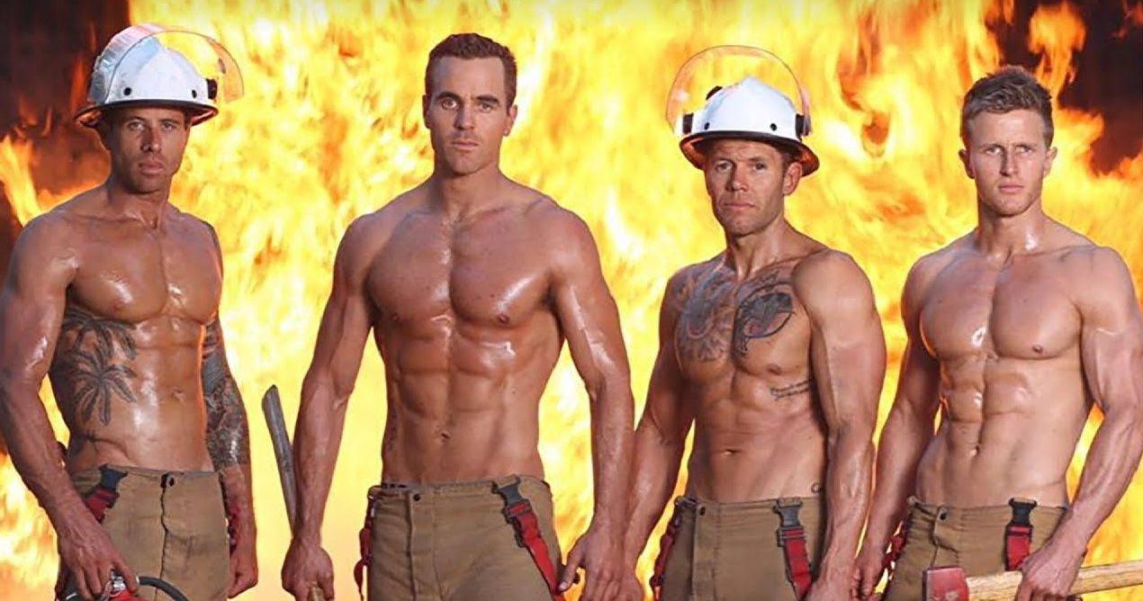 De 2020-kalender van Australische brandweermannen is hier en hij is heel heet