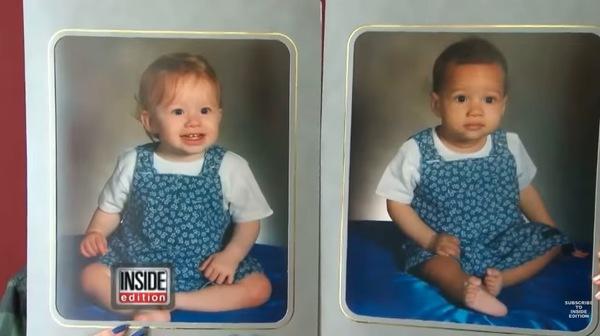 tweeling met verschillende huidskleur
