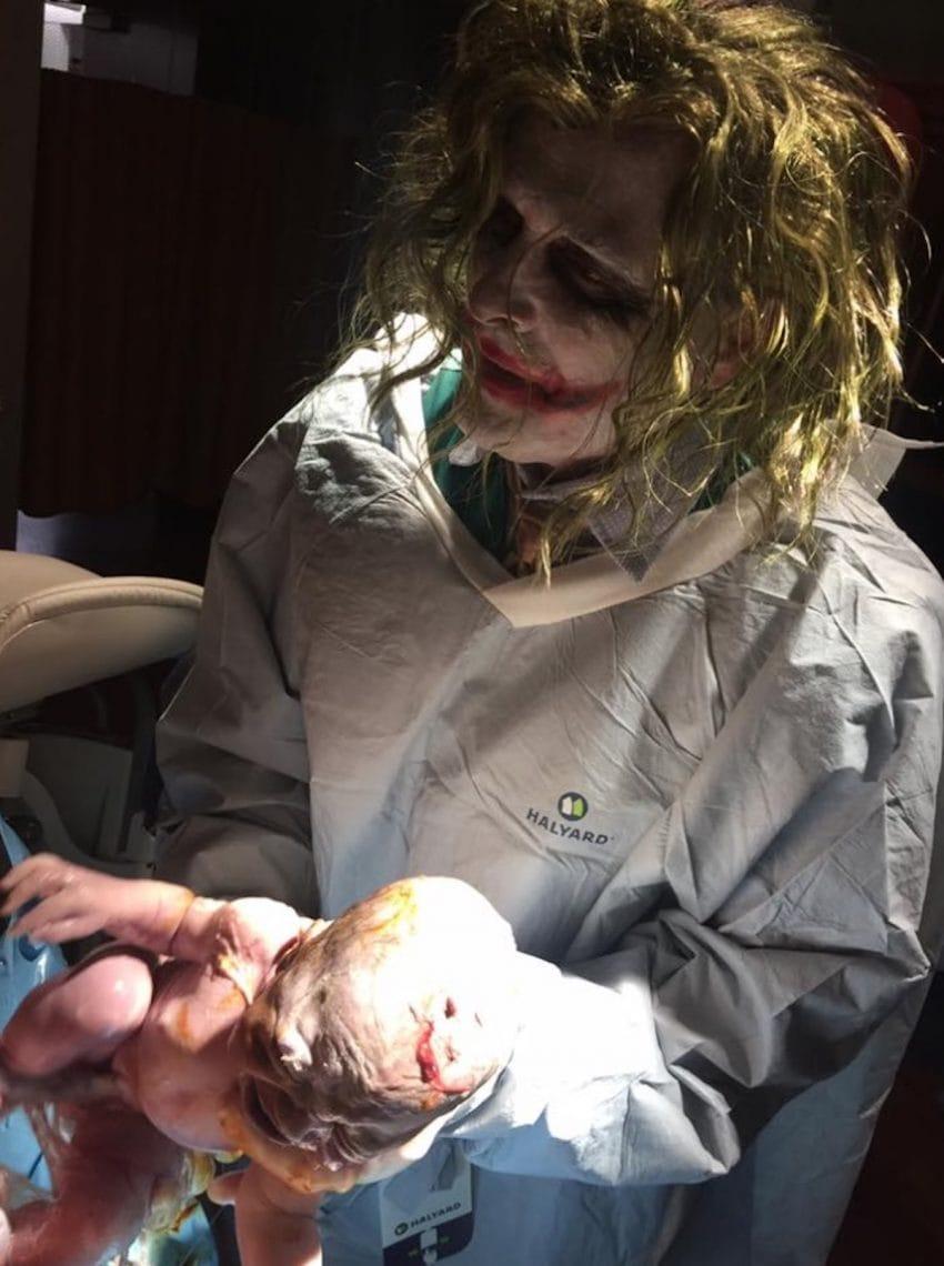 the joker en een baby