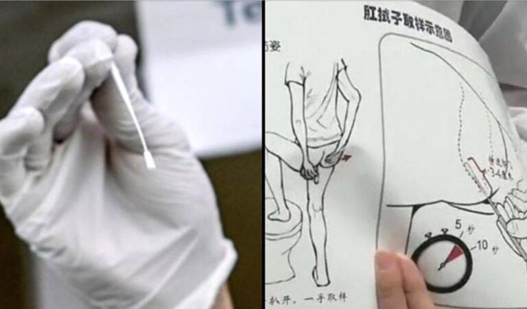 China doet uitstrijkjes vanuit de anus om mensen te testen op het Coronavirus