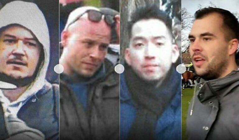 Opsporing Verzocht: Politie is op zoek naar 4 mannen voor geweldpleging Museumplein
